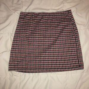 F21 Plaid Mini Skirt